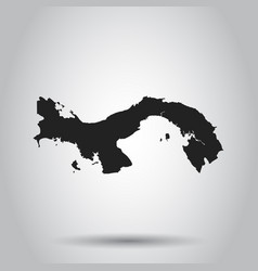 Panama map black icon on white background vector