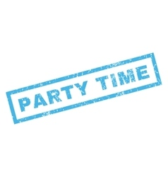 Party time rubber stamp vector