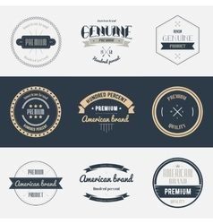 Premium quality labels set Brands design elements vector image