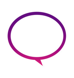 purple round chat bubble icon vector image