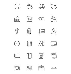 Real estate hand drawn doodle icons 5 vector
