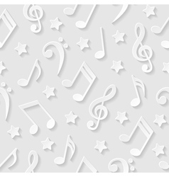 Seamless pattern with musical notes vector image
