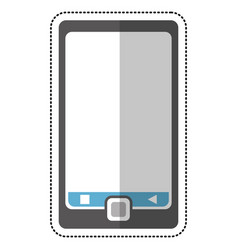 smartphone mobile technology cut line vector image
