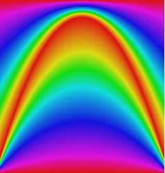 Smooth gradient rainbow wave curve background vector