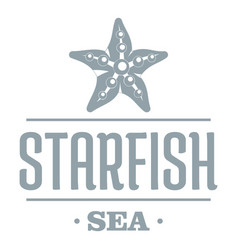 starfish sea logo simple gray style vector image
