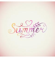 Summer watercolor lettering Hand drawn watercolor vector image vector image