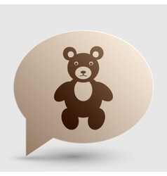 Teddy bear sign Brown gradient icon vector image vector image