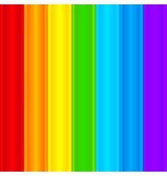 Vertical rainbow plastic stripes abstract vector image