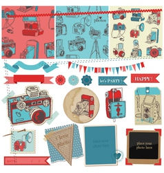 Vintage Photo Camera Scrap vector image