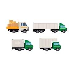 Work trucks set vector