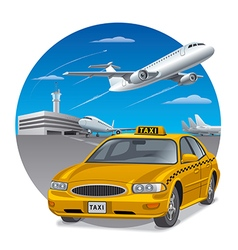 taxi sedan car vector image
