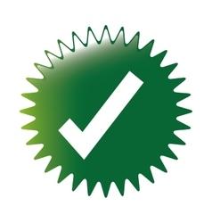 Check mark icon image vector