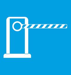 Parking entrance icon white vector