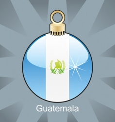 Guatemala flag on bulb vector image