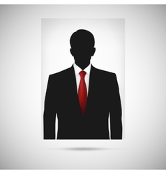 Profile picture whith red tie unknown person vector