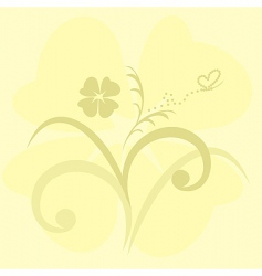 Cute flowers background vector