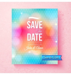 Colorful save the date template textured with dots vector