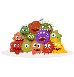 Cartoon bacteria colony vector