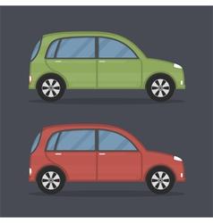 Flat Cars vector image