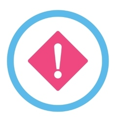 Error flat pink and blue colors rounded vector