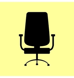 Office chair sign vector