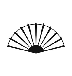 Open hand fan icon simple style vector