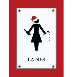 Chirstmas restroom sign vector
