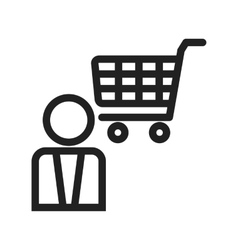 Shopping assistant vector