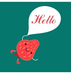 Funny red strawberry vector