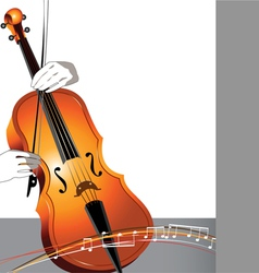 Abstract cello and musician vector image
