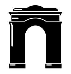 Archway big icon simple black style vector