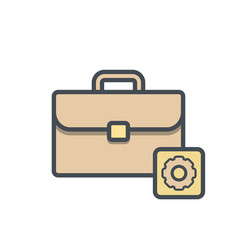 bag briefcase business portfolio settings vector image