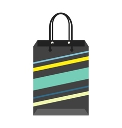Black Striped Shopping Package vector image vector image