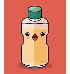 Bottle honey kawaii character icon vector