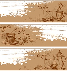 cofee banners vector image vector image