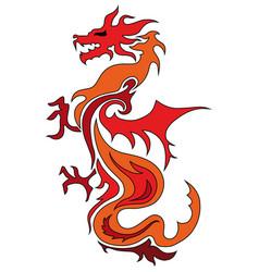 dragon china zodiac symbols tattoo dragon vector image vector image