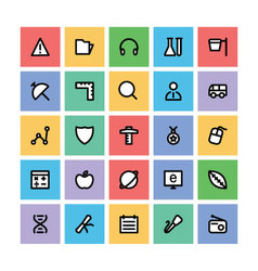 Education square icons 5 vector