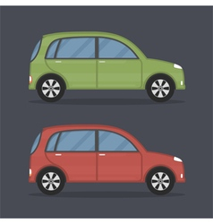 Flat cars vector