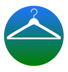 Hanger sign white icon in vector