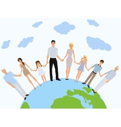 Happy family earth vector image vector image