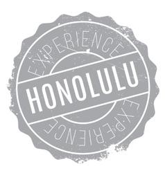 Honolulu stamp rubber grunge vector image