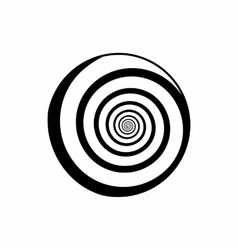Hypnotic circle icon outline style vector