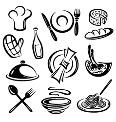 Kitchen cook chef hat vector image vector image