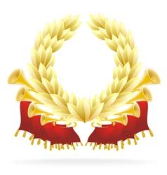Laureate wreath vector