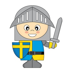 little knight vector image
