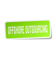 Offshore outsourcing square sticker on white vector
