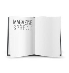 Open magazine spread blank double-page vector