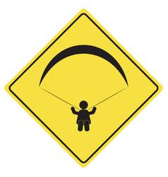 Paragliding sign symbol vector