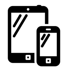 Phone and tablet sign vector image