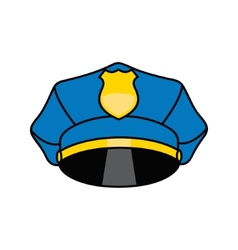 Police cap sign vector image
